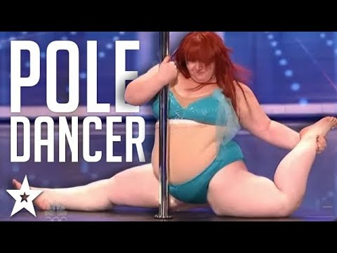 PLUS SIZE Pole Dancer Audition With A Funny TWIST On America's Got Talent | Got Talent Global