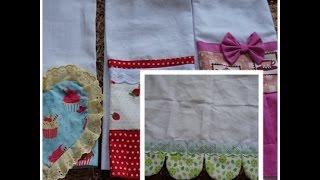 Costura para casa pano de prato+dica de reaproveitamento de materiais