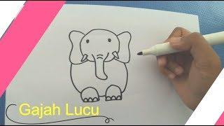 Belajar Menggambar Gajah Lucu dengan Mudah