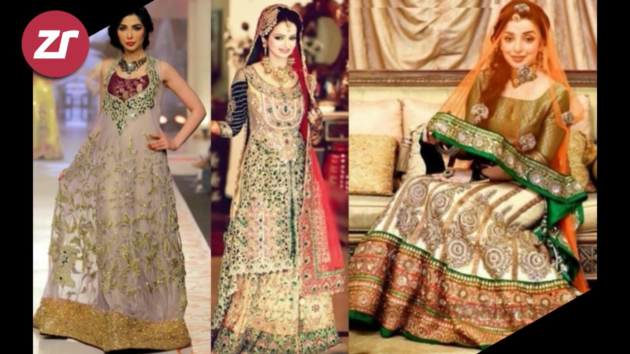 4afa7dfb507 top 50 new pakistani bridal dress 2018 - Mixed Colour bridal lehenga pics  2018