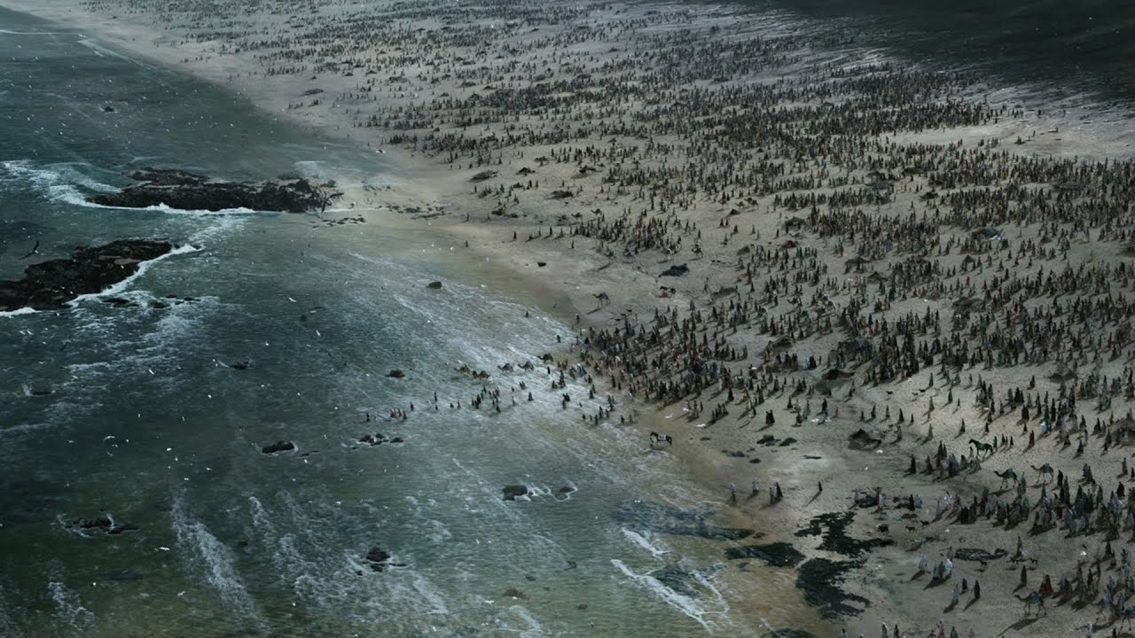 軍隊逃到海邊,趁退潮全軍渡海,場面太過震撼!絕對驚險刺激,經典的動作大片