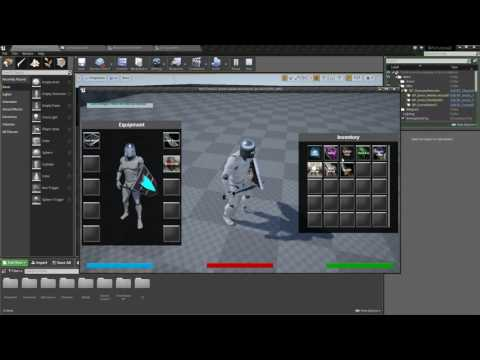 Unreal Engine 4 - Equipment System Preview (Part 15)