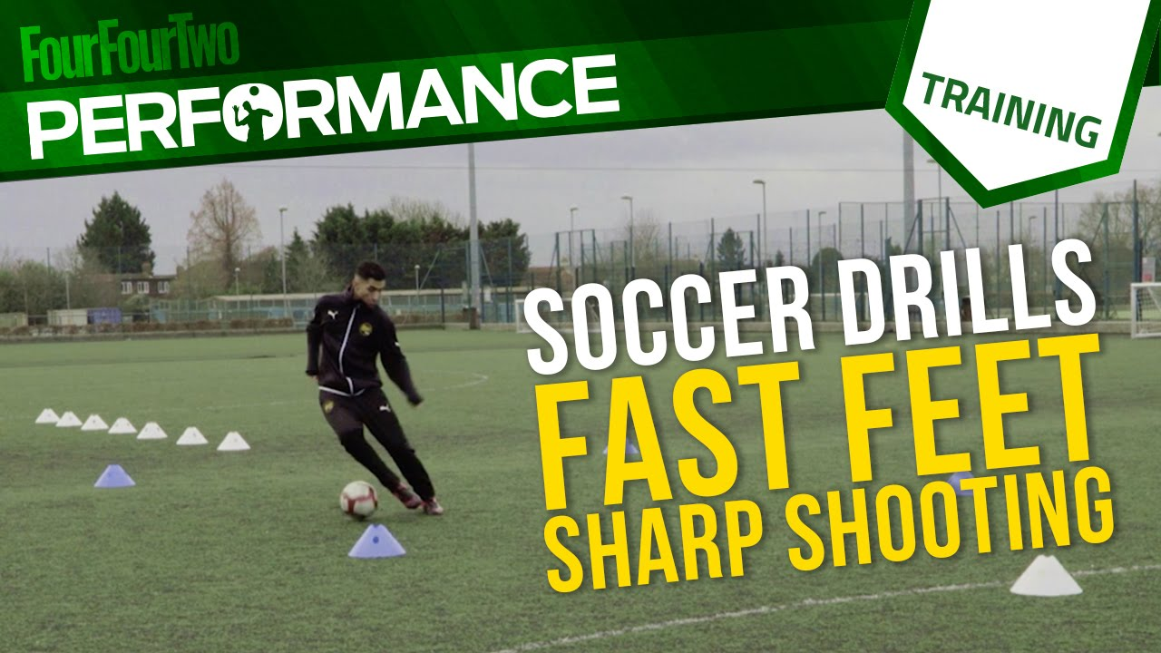 Soccer shooting drill | Fast feet, sharp shooting