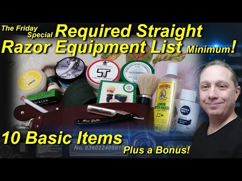 Required Straight Razor Equipment List Minimum