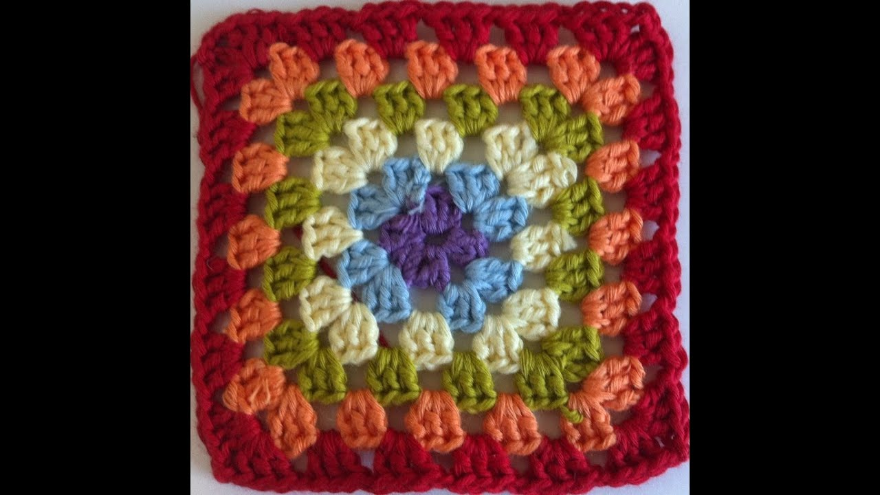 Tutorial Granny Square Paso A Paso En Español - YouTube