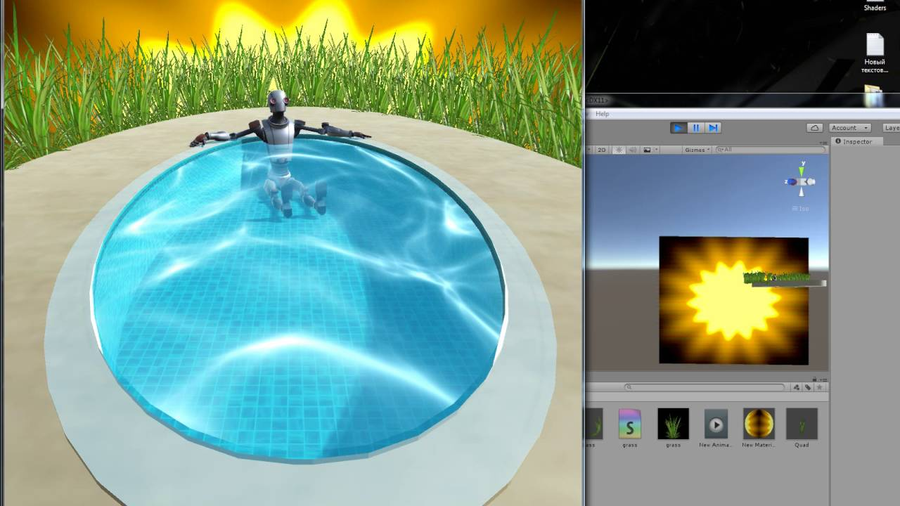 Caustic water ( Unity shader )