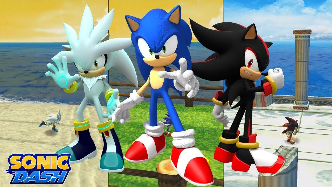 Sonic Dash (iOS) - Sonic vs. Shadow vs. Silver