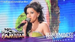 "Your Face Sounds Familiar: KZ Tandingan as Vina Morales - ""Pangako Sa"
