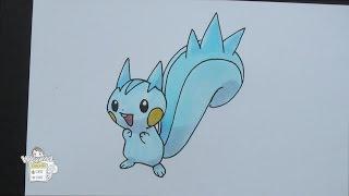 Drawing Pokemon: No. 417 Pachirisu パチリス