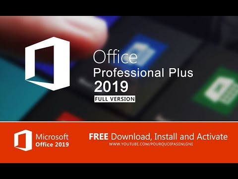 microsoft office professional plus 2019 download activation free forever