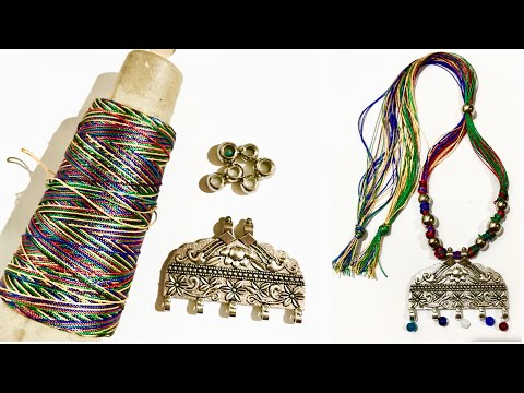 How to make beautiful Silk Thread Necklace at home | DIY | jewellery making | art & craft studio