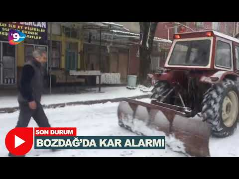 Bozdağ'da kar alarmı