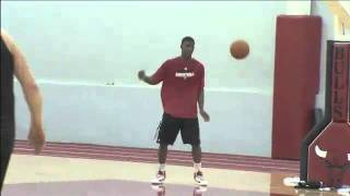 Brian Scalabrine and Jimmy Butler Dunk Contest after Practice