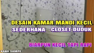 Desain kamar mandi kecil sederhana!!! closet duduk