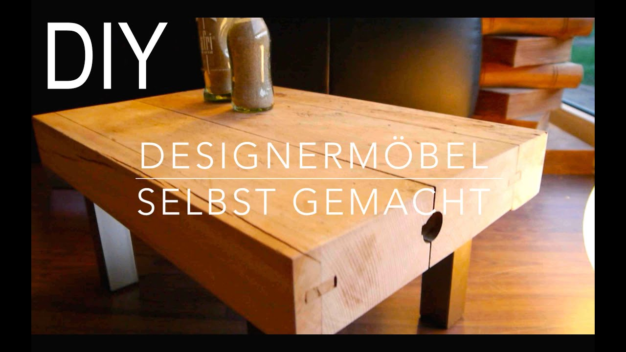 diy designer tisch hocker selber bauen anleitung youtube. Black Bedroom Furniture Sets. Home Design Ideas