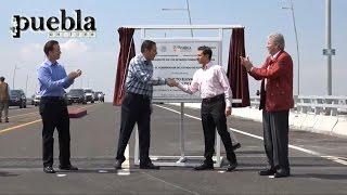 Repeat youtube video Peña Nieto y Moreno Valle inauguran el segundo piso de la autopista México Puebla