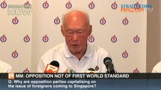 MM Lee: Opposition not of first world standard