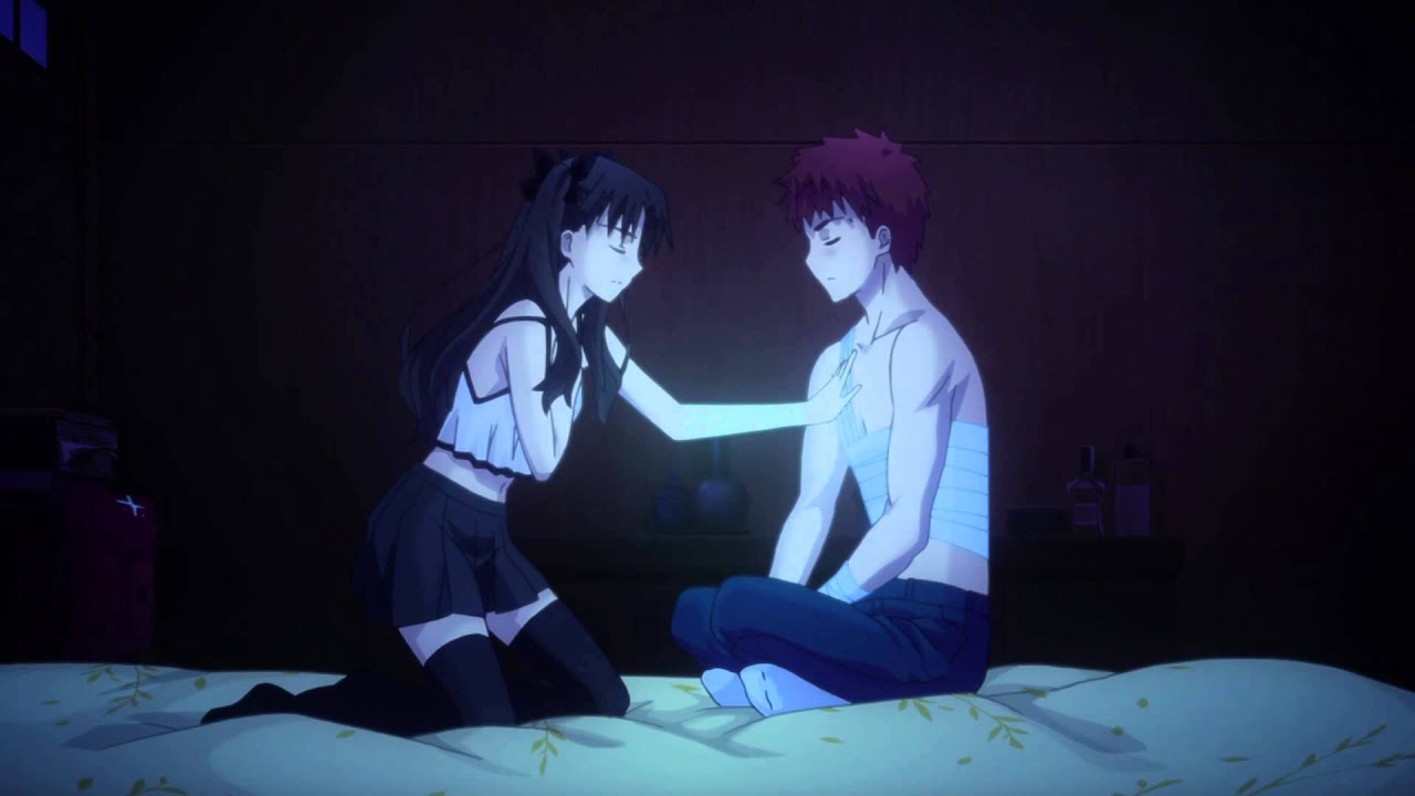 Image result for Rin and Shirou mana transfer