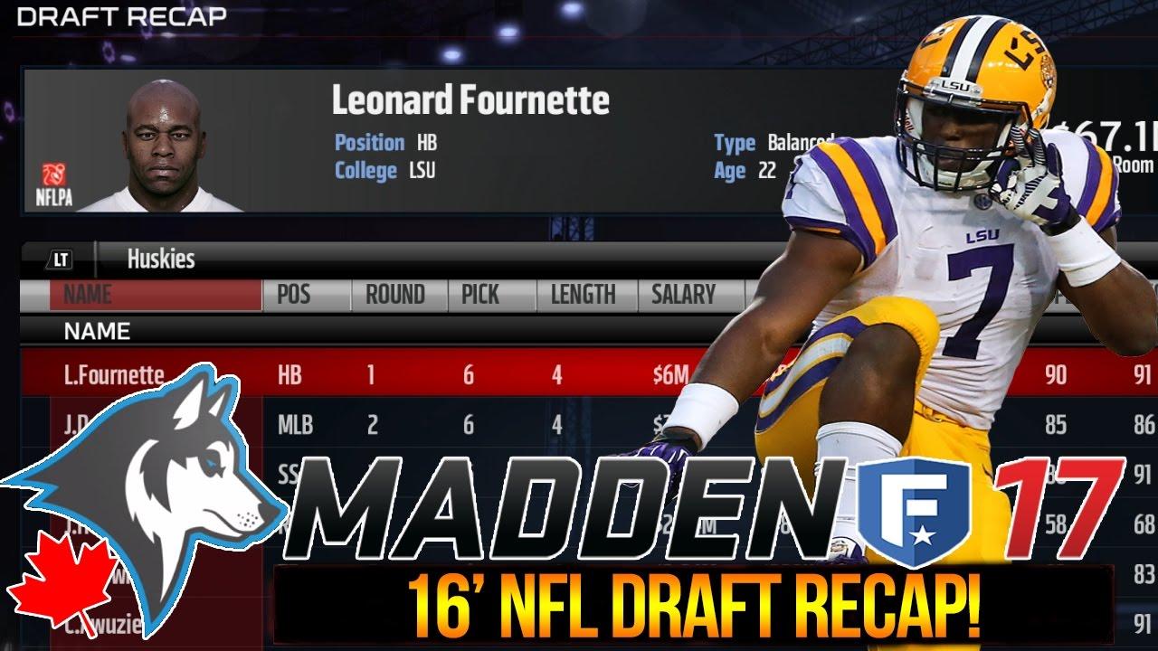 2016 Nfl Draft Madden 17 Expansion Franchise Leonard F N Fournette Ep 2 Youtube
