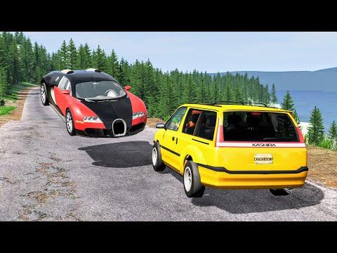 Realistic High Speed Crashes #56 - BeamNG Drive   CrashBoomPunk