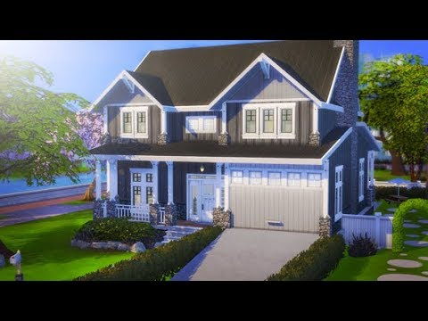 CRAFTSMAN FAMILY HOME ❤ | THE SIMS 4 // SPEEDBUILD