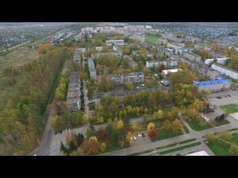 Аэросъемка в Волгореченске. Полет над осенними дворами. Осень 09.2016.