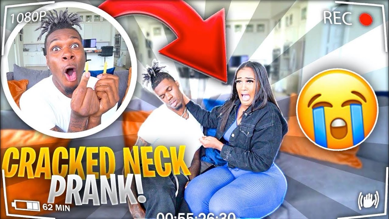 CRACKED NECK PRANK ON GIRLFRIEND!!!😱**She Freaks Out**