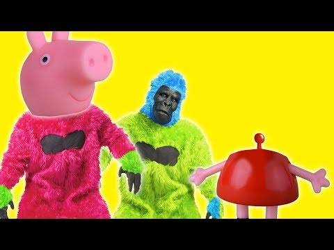 Monkeys and Pepa play toughether  Superhero in real life new kids story