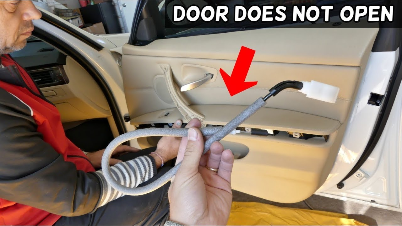 FRONT DOOR DOES NOT OPEN FROM INSIDE FIX BMW E90 E91 E92 E93