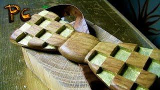 Wooden bow tie. Галстук-бабочка из дерева.