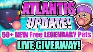 🔱Bubblegum Simulator 🔴 Atlantis LIVE FREE PET GIVEAWAY 📣 Update 22 (Roblox)
