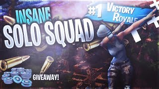 INSENSÉ SOLO SQUAD EMBRAYAGE - GIVEAWAY! (Fortnite Bataille:Royale)