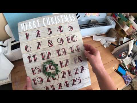DIY Easy & Affordable Christmas Gift Series - DIY Advent Calendar with HTV !