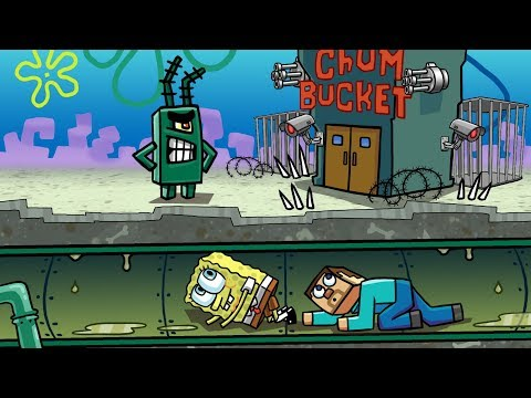 Minecraft   SNEAKING INTO THE CHUM BUCKET! (Most Secure SPONGEBOB Base)