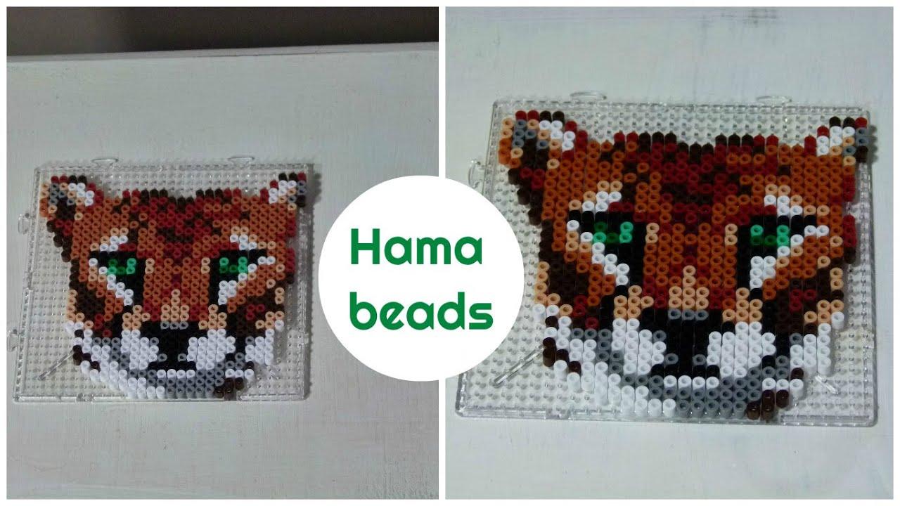 Tiger - hama beads DIY / Perles à repasser / Perles Hama - YouTube