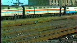 AMTRAK .. New Haven,Ct 1981. New Electric Locomotives