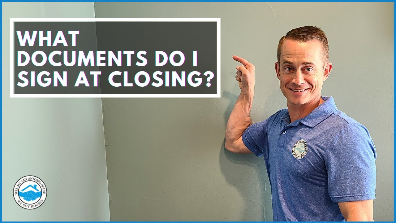What Documents Do I Sign At Closing?