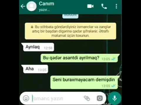 Whatsapp Instagram Ucun Gozəl Sevgi Statusu 2018 By Ayaz Azeri Youtube