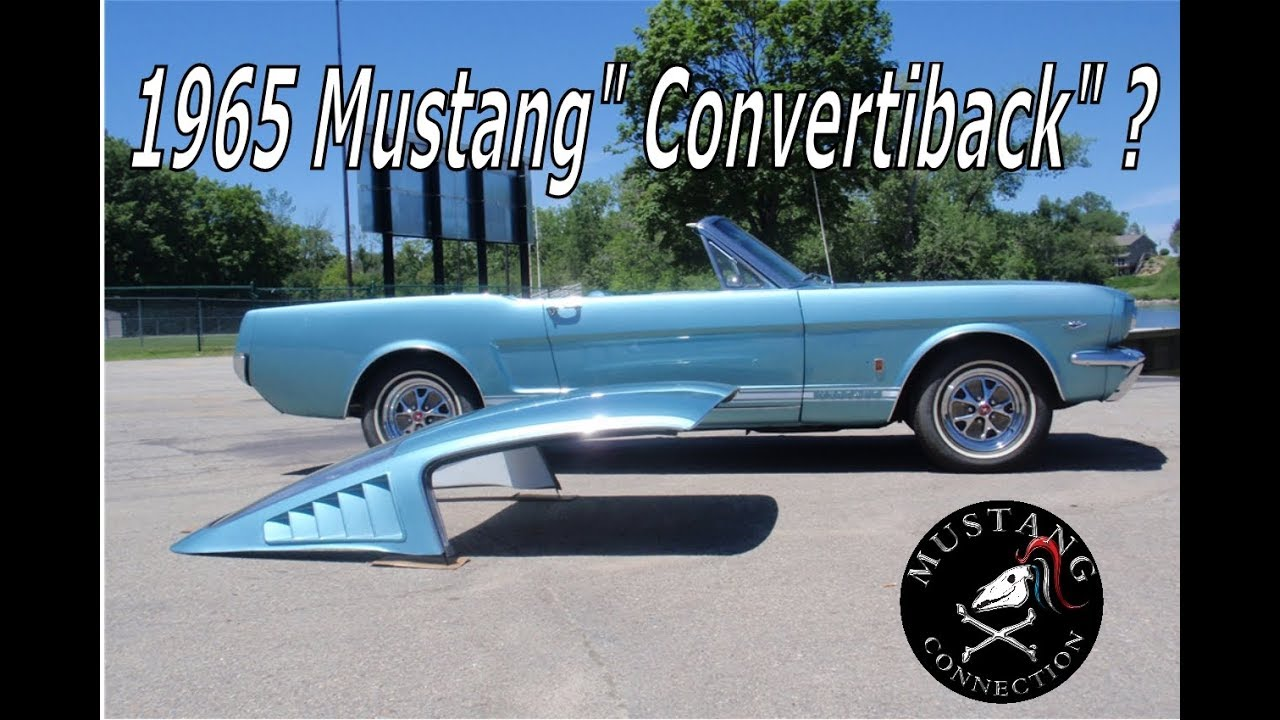 Estimated to ship direct from manufacturer on. Convertiback 1965 Mustang Fastback And Convertible All In One Youtube