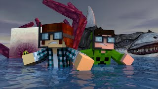 Minecraft: TUBARÕES GIGANTES E KRAKEN NO MAR  !! - Aventuras Com Mods #17