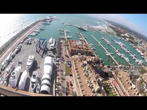 Aerial video of Sotogrande Costa del Sol