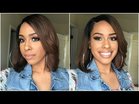 Very Impressed! Brown Ombre Bob Style Lace Front Wig | Premier Lace Wigs