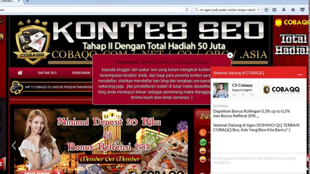 Cobaqq.net BandarQ Online, Bandar QQ, Agen Bandarq, Web ...