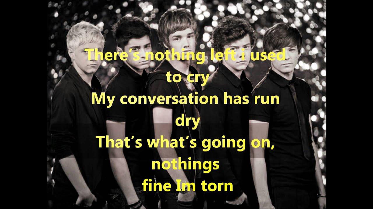 One Direction - Torn Lyrics