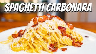 Pasta Carbonara the American Way (With Bacon)