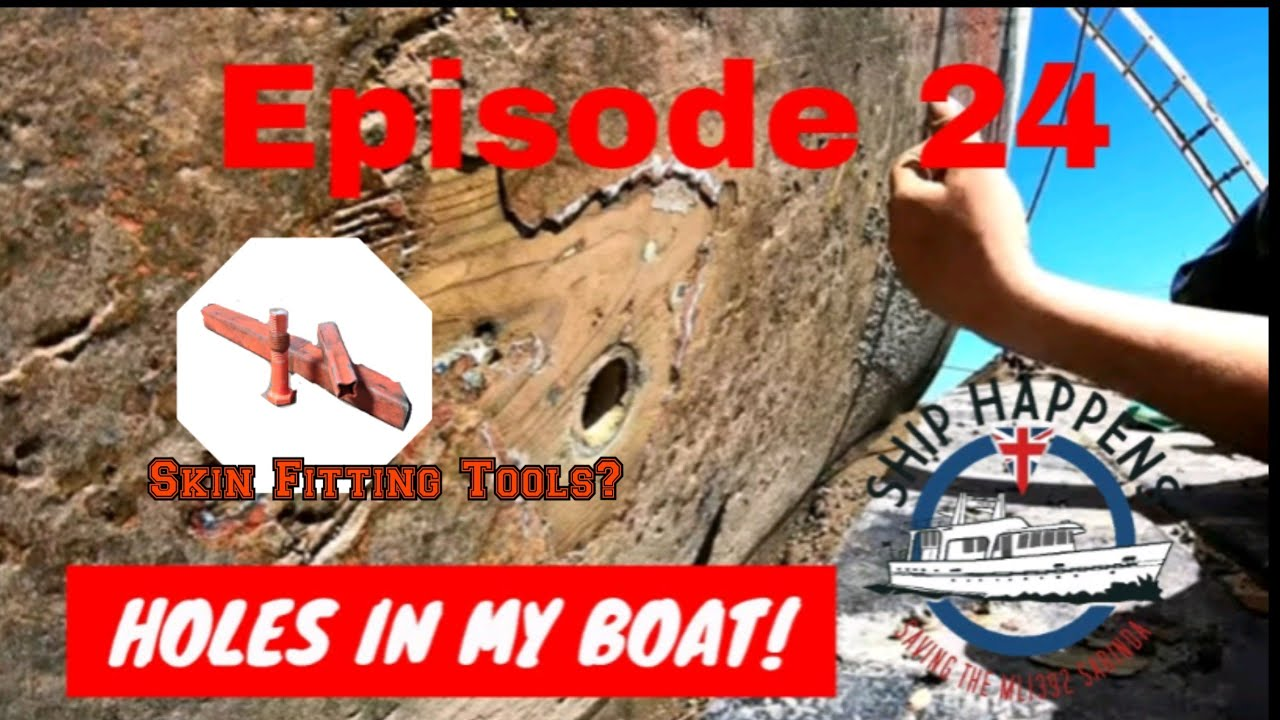 Ep 24 - Changing The Boats Skin Fittings With Our Home Made Tools!
