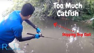 Rizal Joran skipping with a baitcaster(catch catfish)