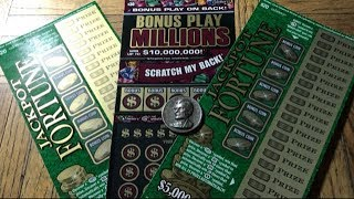 Back To Back Wins! Another $70 Session! JACKPOT FORTUNE BONUS PLAY MILLIONS Cali Scratchers