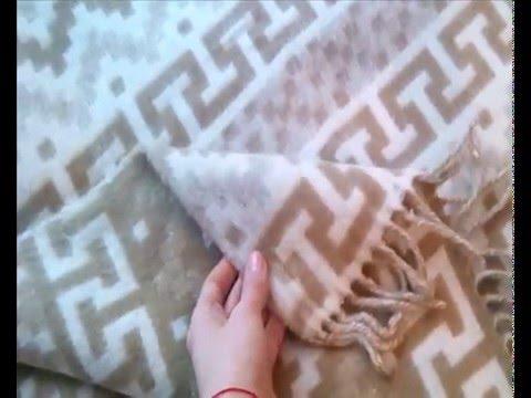 Шерстяной плед 'Олени' - YouTube