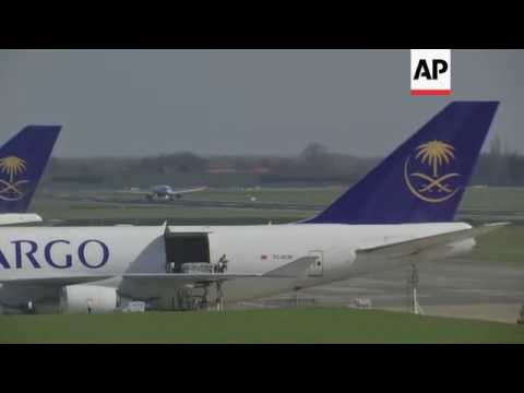 First flight leaves re-opened Brussels airport
